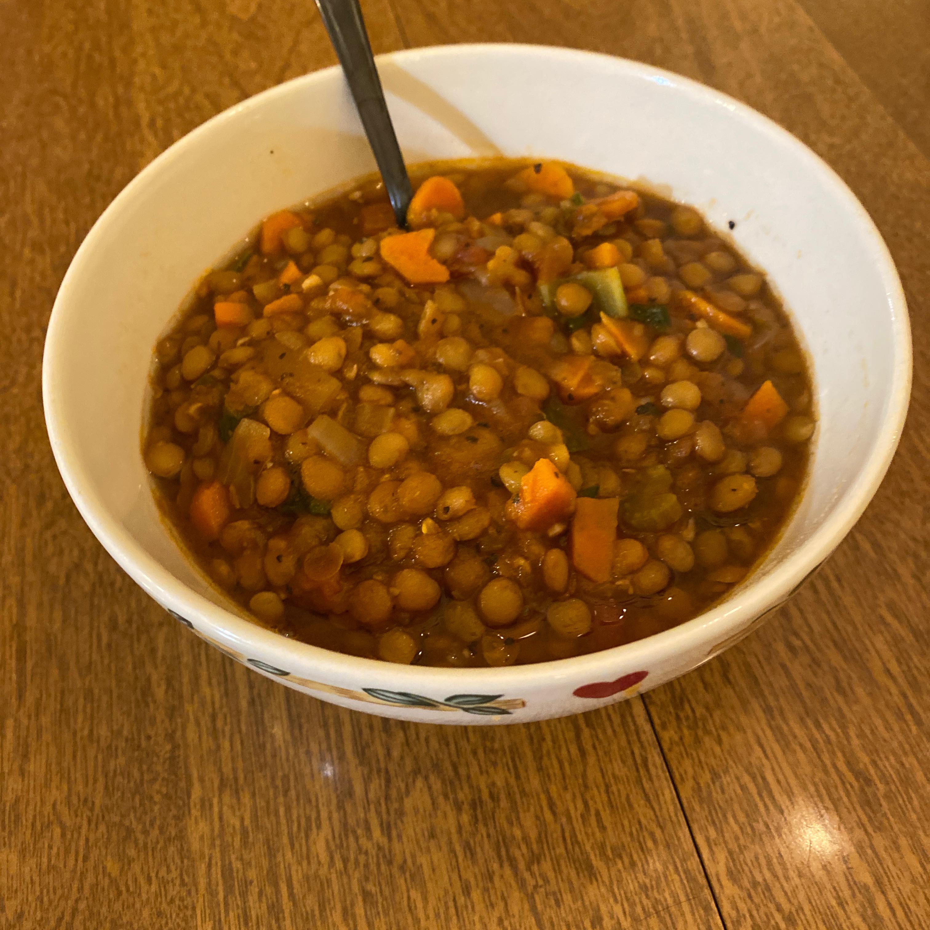 Lentil Soup Drake Kohn