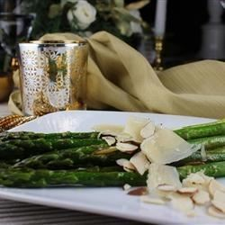 Asparagus with Sliced Almonds and Parmesan Cheese