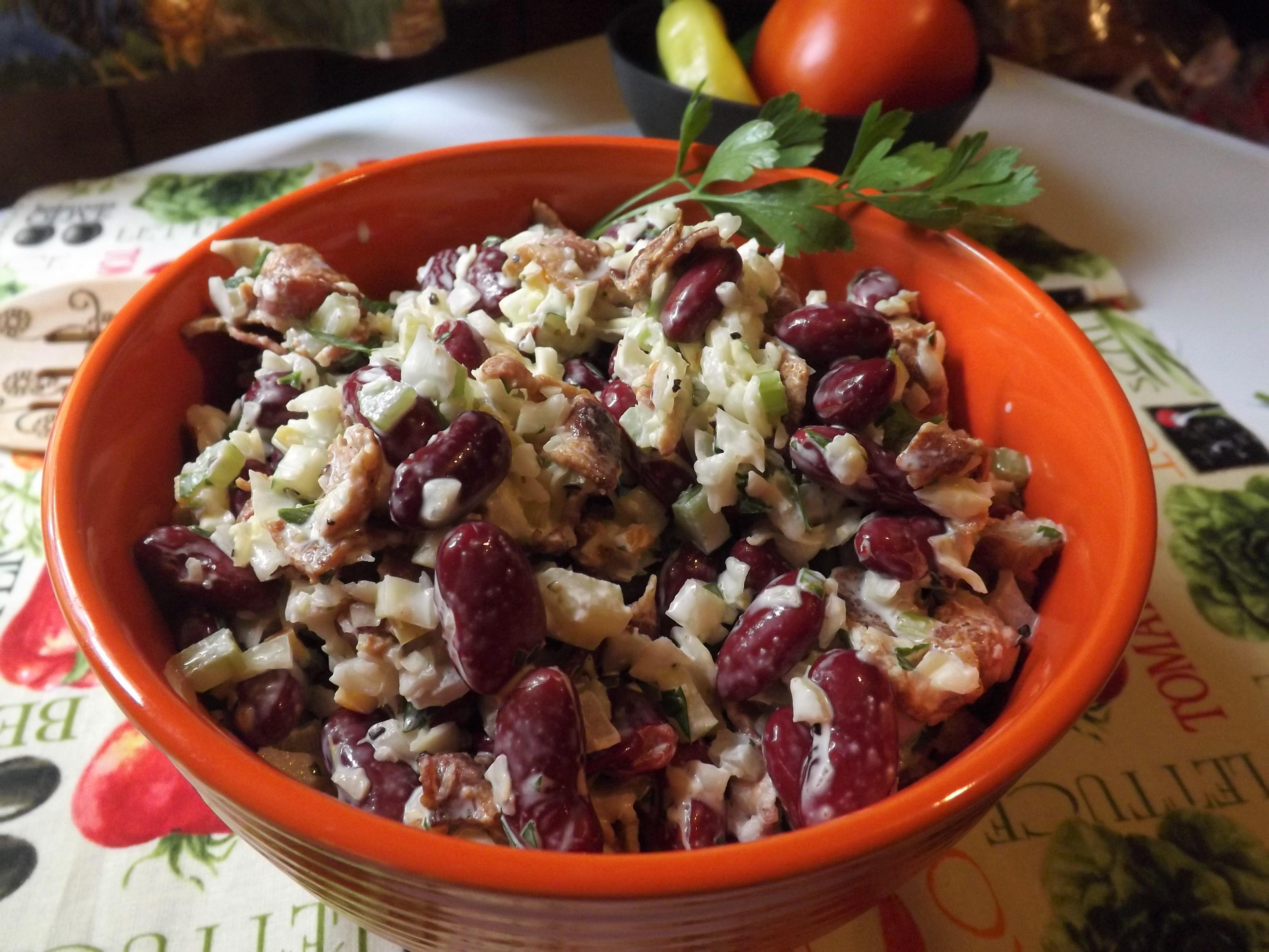 Bean and Bacon Salad Autumneyes