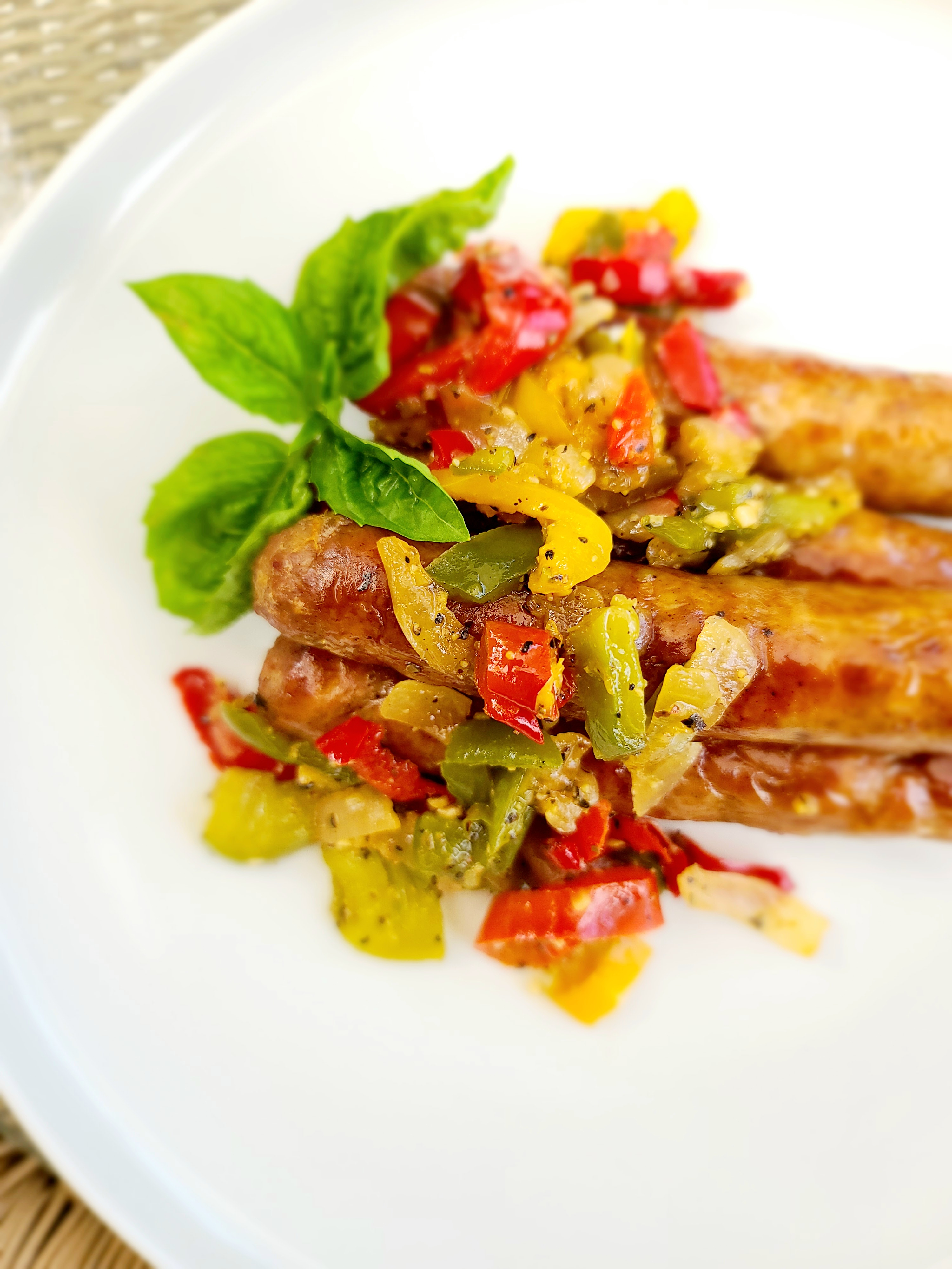 Grilled Italian Sausage with Peppers and Onions Nicolette