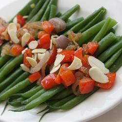 Green Beans with Almonds and Caramelized Shallots