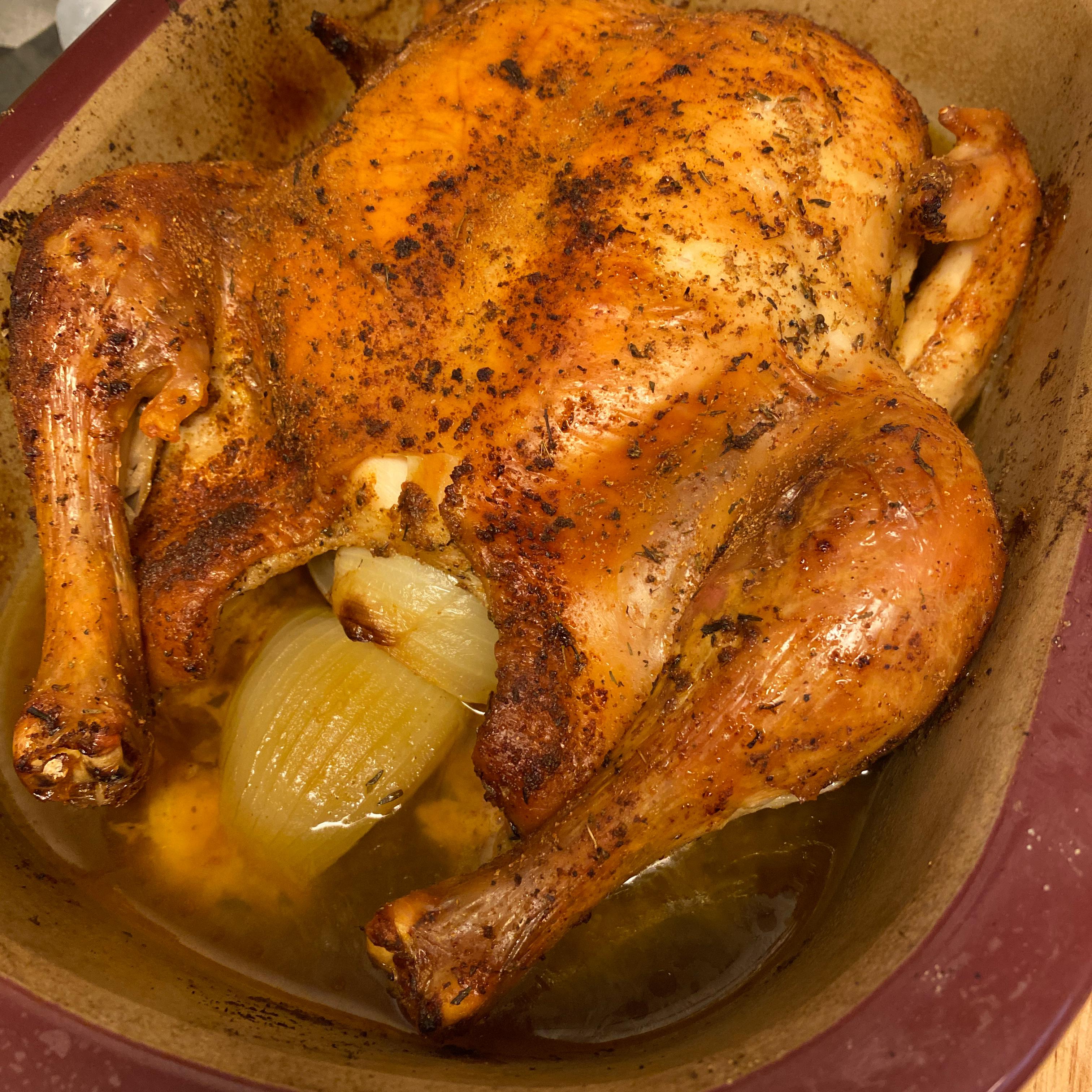 Roast Sticky Chicken-Rotisserie Style samie