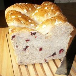 Cranberry Oat Bread