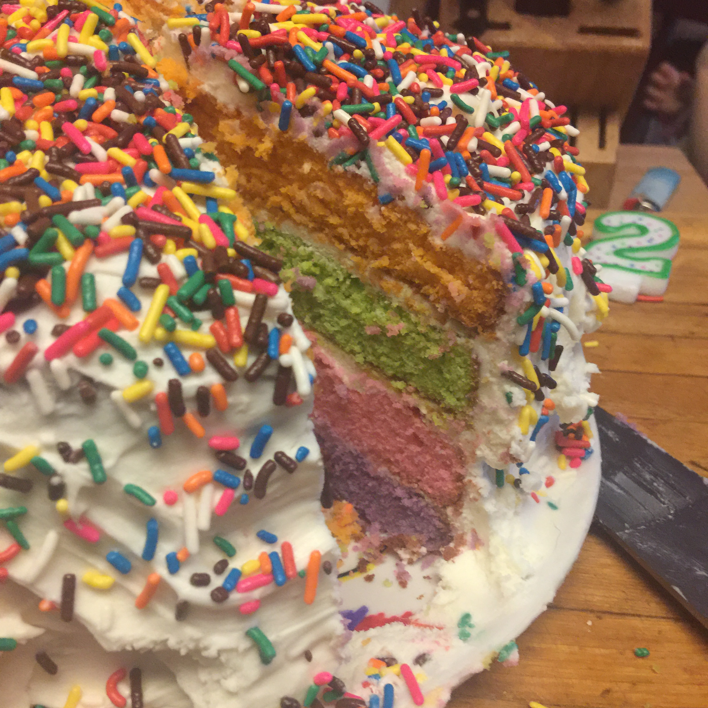 Rainbow Pinata Cake Andrea Eleanor Isabelle Graham