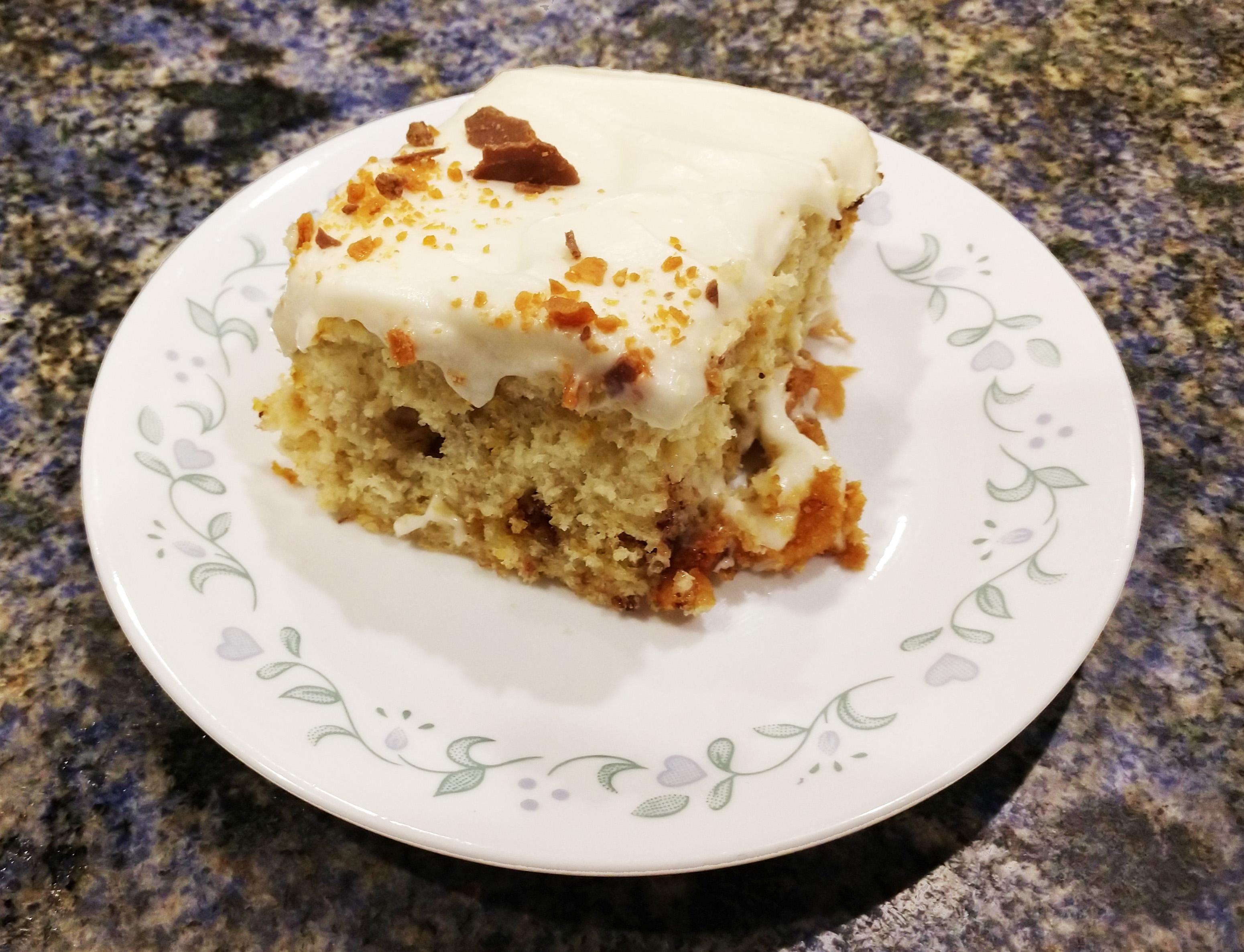 Butterfinger Banana Cake Dogwap