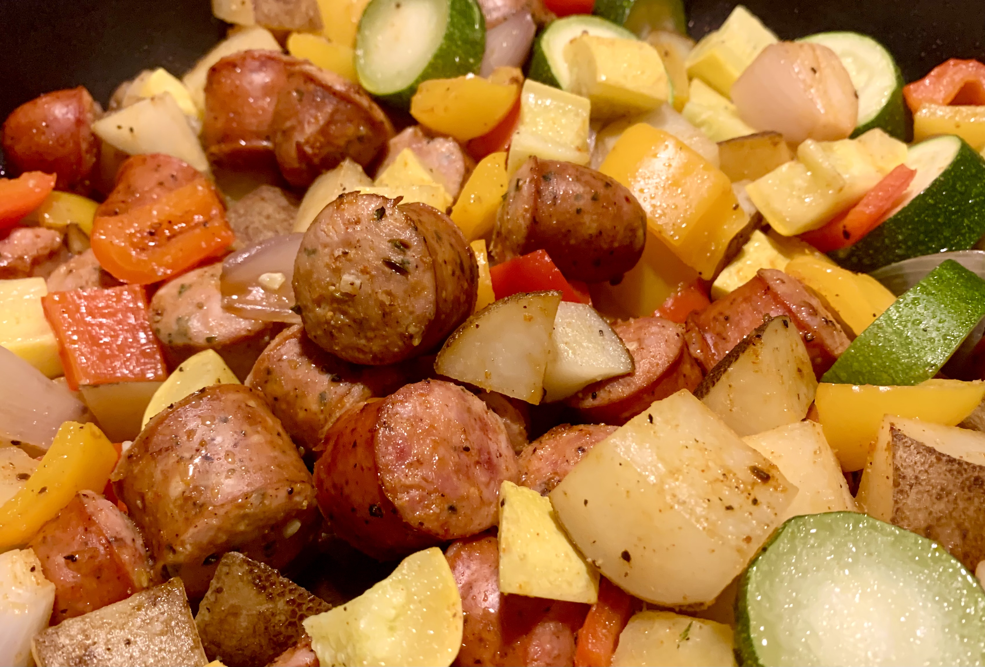 Sausage, Shallot, and Squash One-Pan Meal friddlester