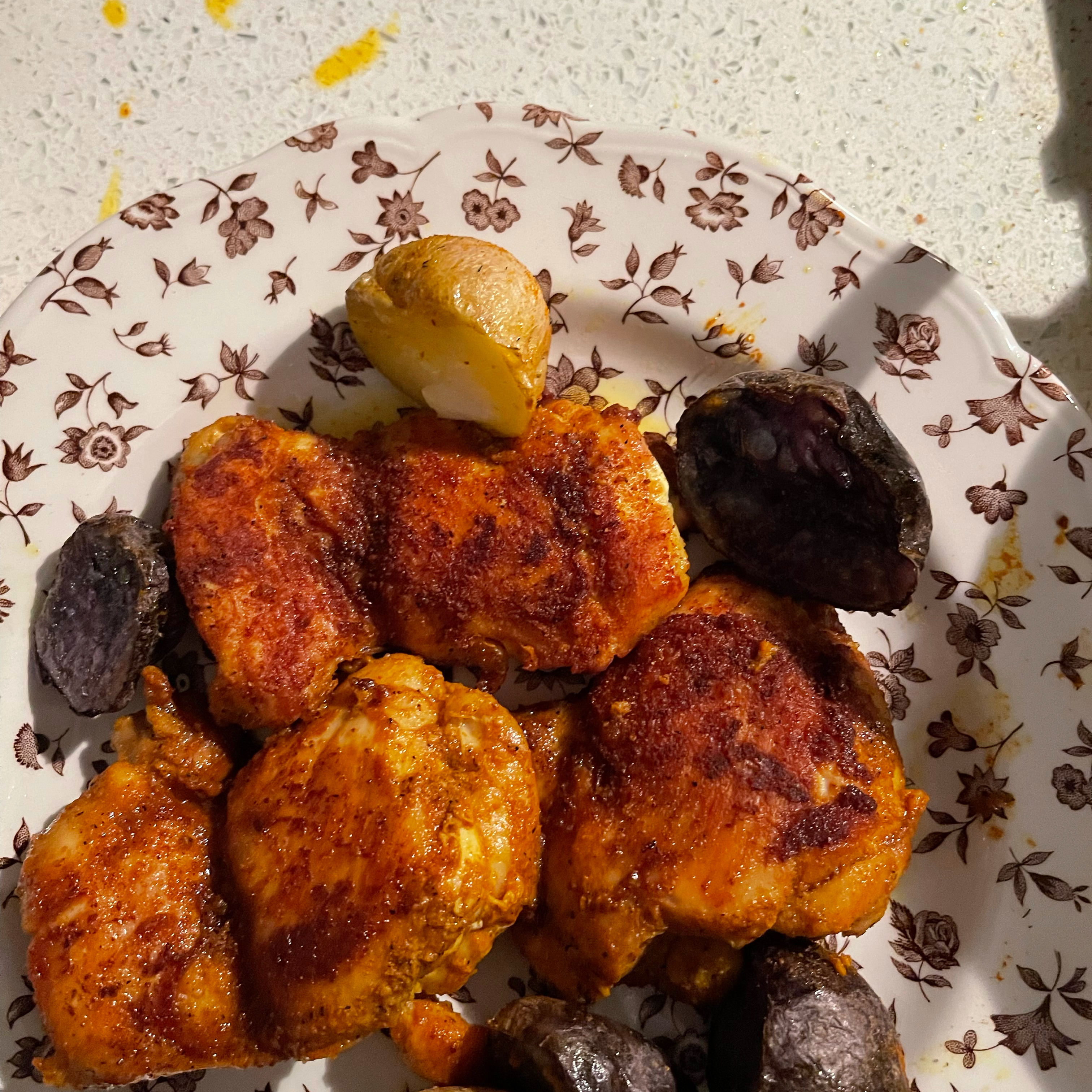 Chicken Thighs with Turmeric and Sea Salt Vera