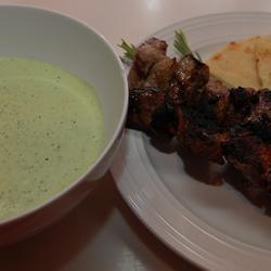 Greek Lamb Kabobs with Yogurt-Mint Salsa Verde Ben S.