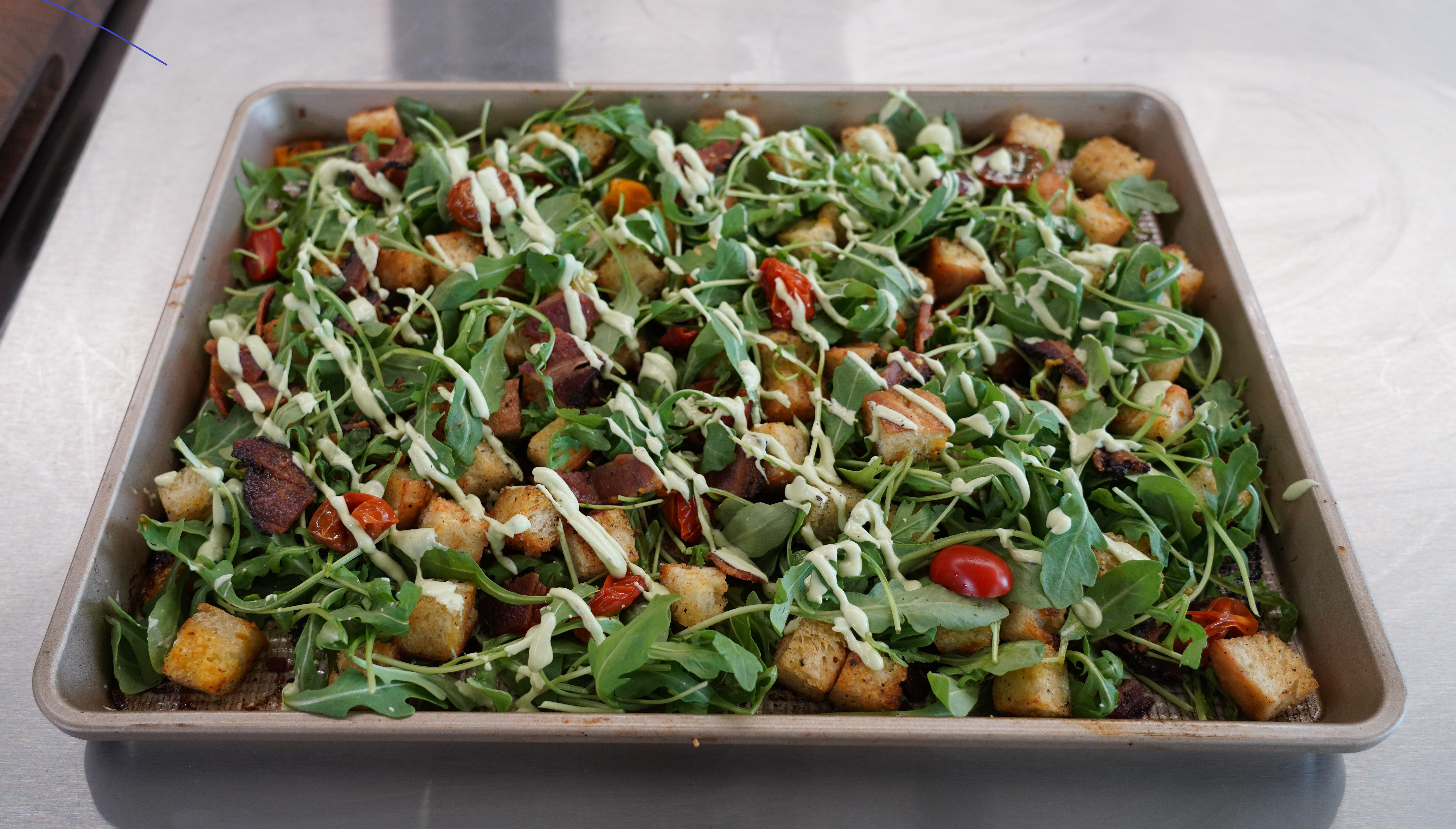 Sheet Pan BLT Salad