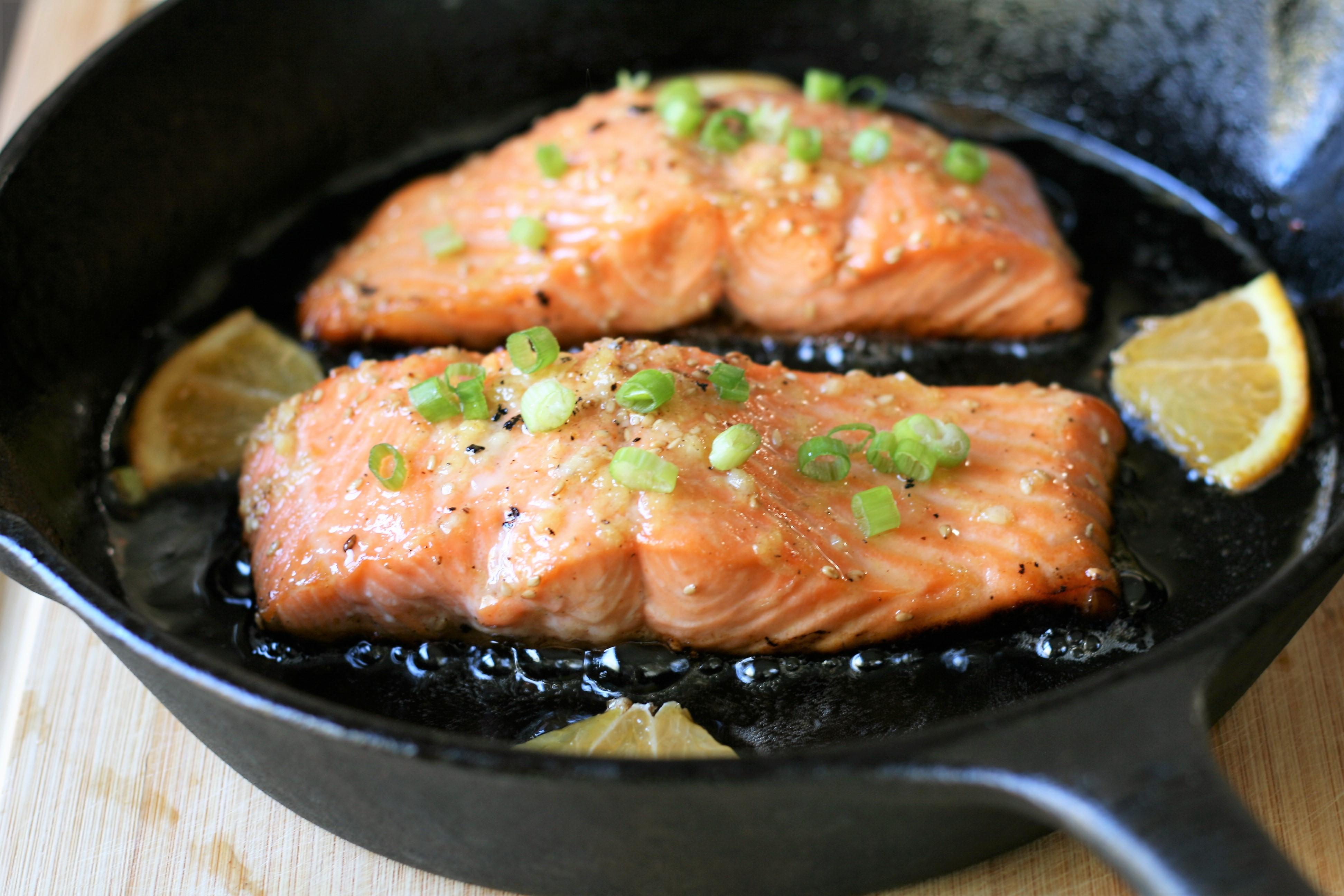 Crispy-Skinned Orange Honey Salmon