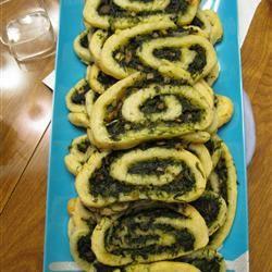 Spinach and Mushroom Pinwheels Erin Andersen