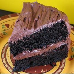 Deep Dark Chocolate Peppermint Cake