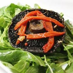 Roasted Portobello, Red Pepper, and Arugula Salad for One naples34102