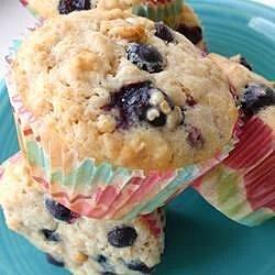oatmeal blueberry muffins recipe