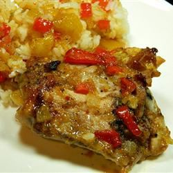 Sweet and Sour Chicken Using Italian Dressing and Apricot Jam