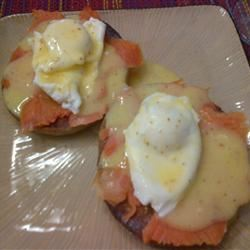 Smoked Salmon Eggs Benedict for Two