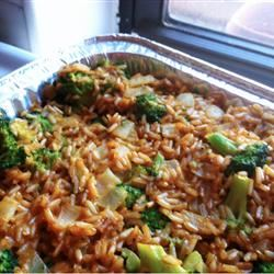 Brown Rice, Broccoli, Cheese and Walnut Surprise kateskitch