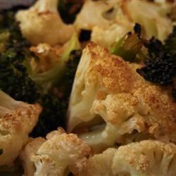 Honey-Garlic Cauliflower and Broccoli