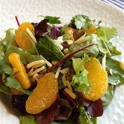 Orange Almond Mixed Green Salad