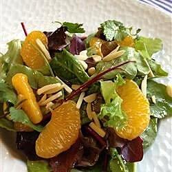 orange almond mixed green salad recipe