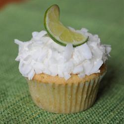 Moist Coconut-Lime Cupcakes