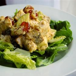 Fruited Curry Chicken Salad chibi chef