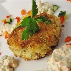 Crab Cakes with Red Pepper Sauce naples34102