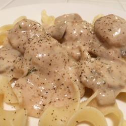 Elegant Stroganoff Meatballs Lucky Noodles