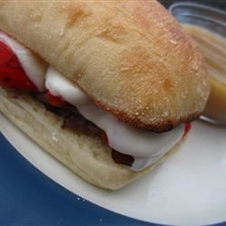 Beef and Roasted Red Pepper Sandwiches