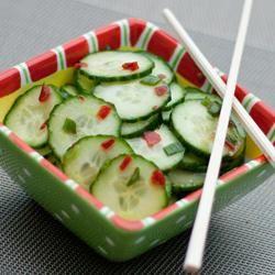 Cucumber Salad With Thai Sweet Chili Vinaigrette