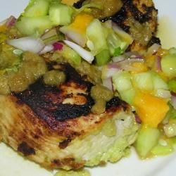 Spicy Cuban Mojo Chicken with Mango-Avocado Salsa