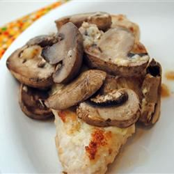Muenster Chicken and Mushrooms