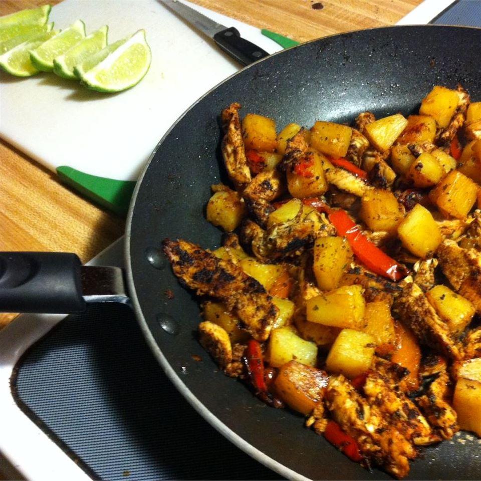 Chicken Pineapple Fajitas