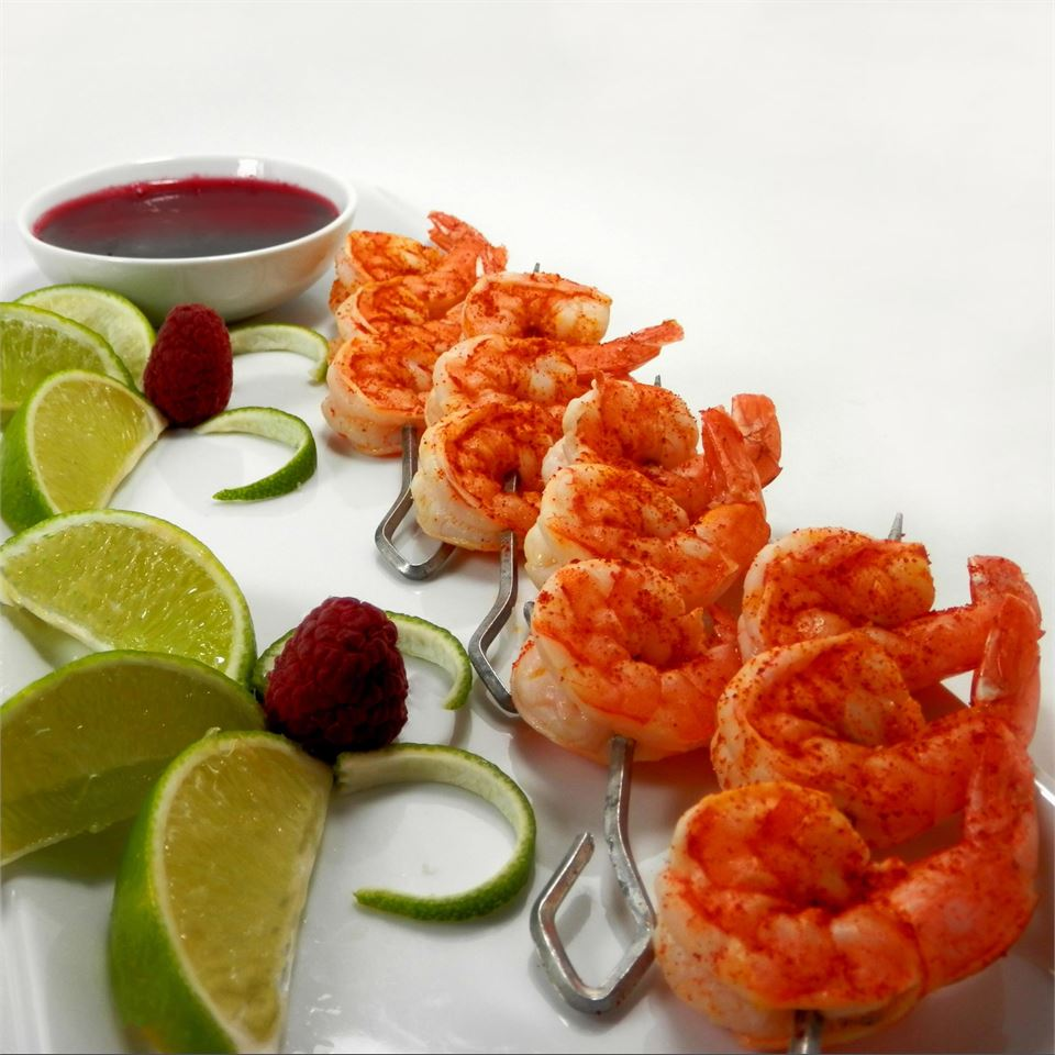 Butterfly Chili Lime Prawn Spedini with Raspberry Dipping Sauce Seeker