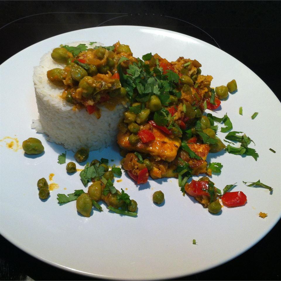 Indian Matar Paneer (Cottage Cheese and Peas) Eleni Zohdi