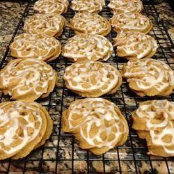 Iced Pumpkin Cookies chelseawatkins