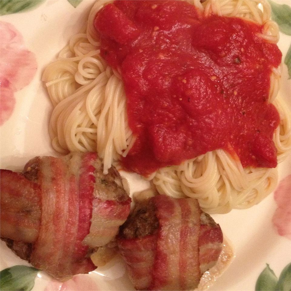 Giant Bacon-Wrapped Meatballs country chef