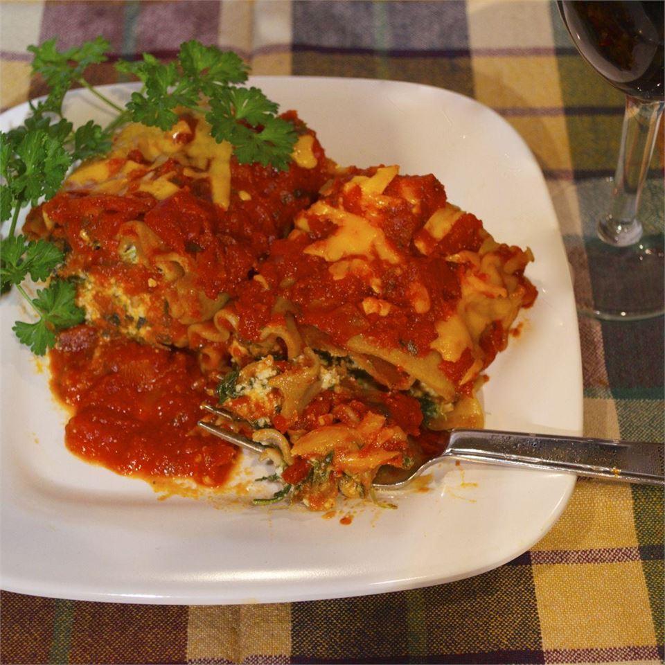 Lighter Simple Lasagna Roll Ups