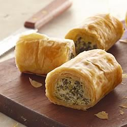 Make-Ahead Spinach Phyllo Roll-Ups from PHILADELPHIA® Trusted Brands