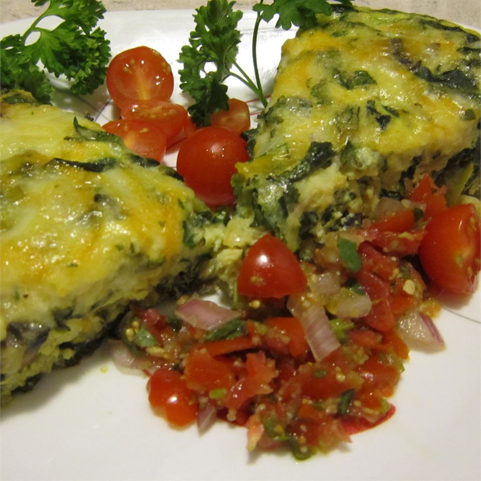 Spinach and Mushroom Frittata