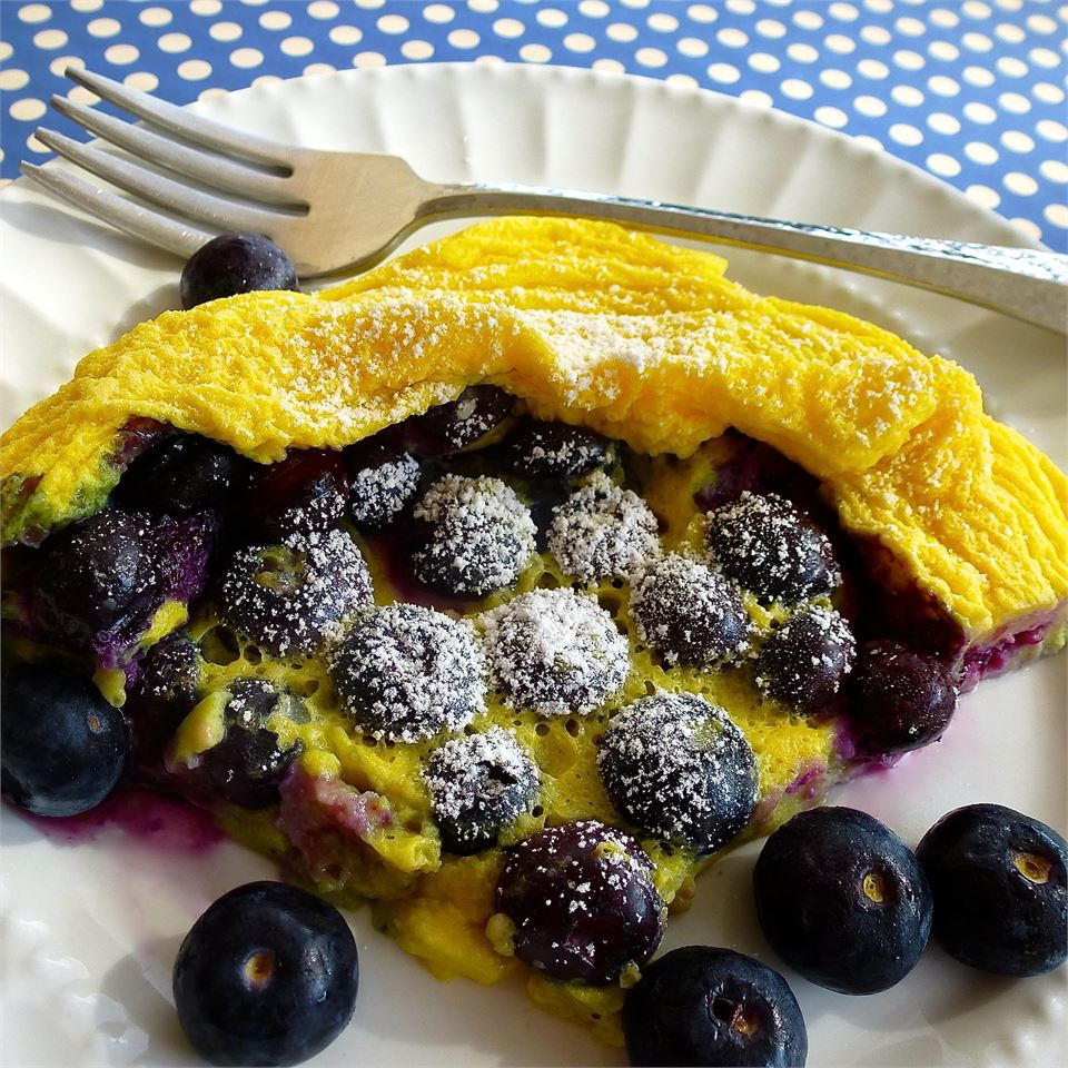 Microwave Blueberry Dutch Baby