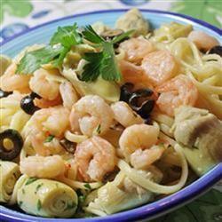 Artichoke and Shrimp Linguine naples34102