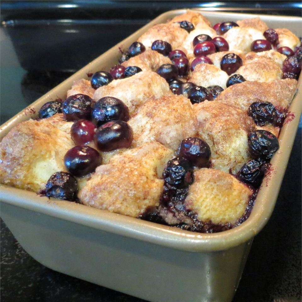Blueberry Buckle Pull-Apart Bread