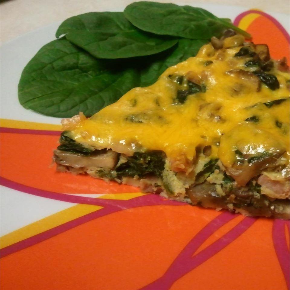 Garlicky Ham, Mushroom, and Spinach Frittata Deborah Norris
