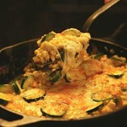 zucchini and corn gratin