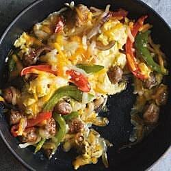 sausage and pepper sunrise burrito