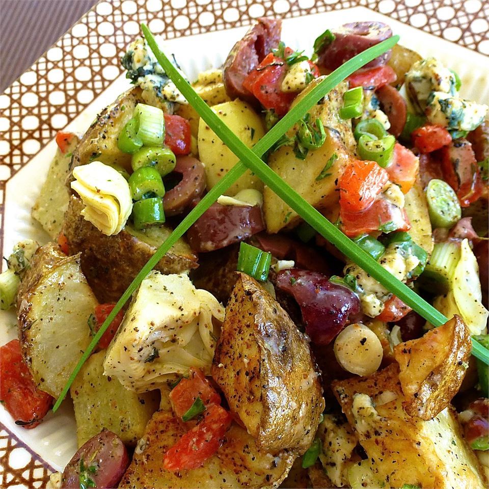 Roasted Potato Salad with Balsamic Dressing lutzflcat