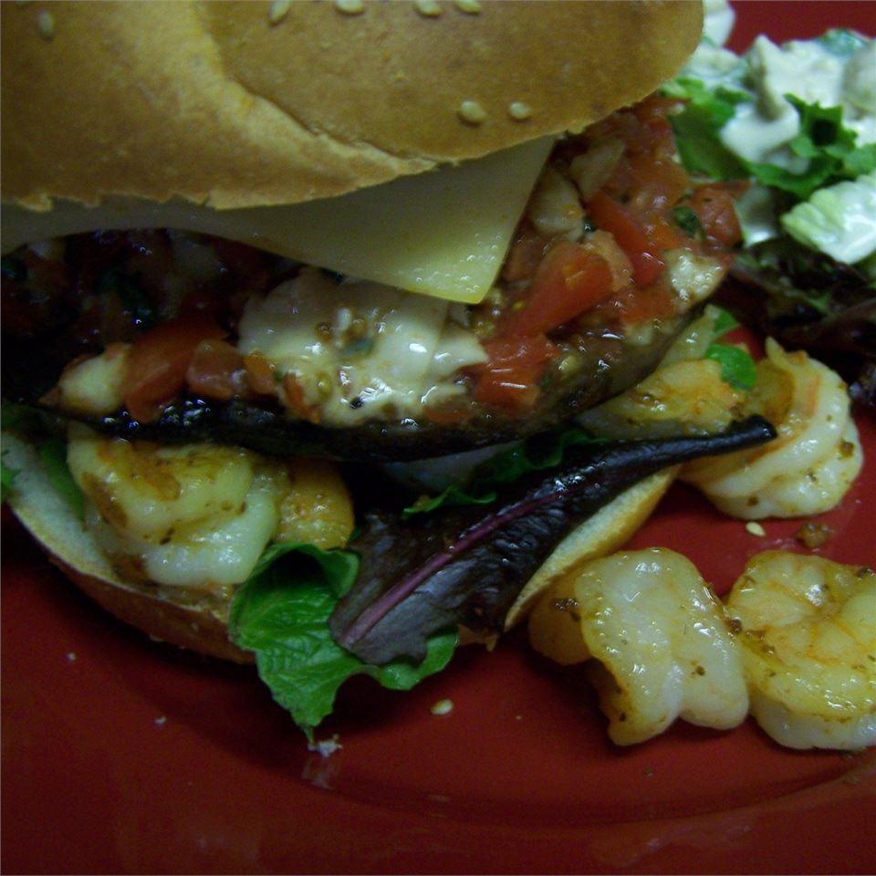 Portobello Mushroom Burger With Bruschetta Topping Anonymous