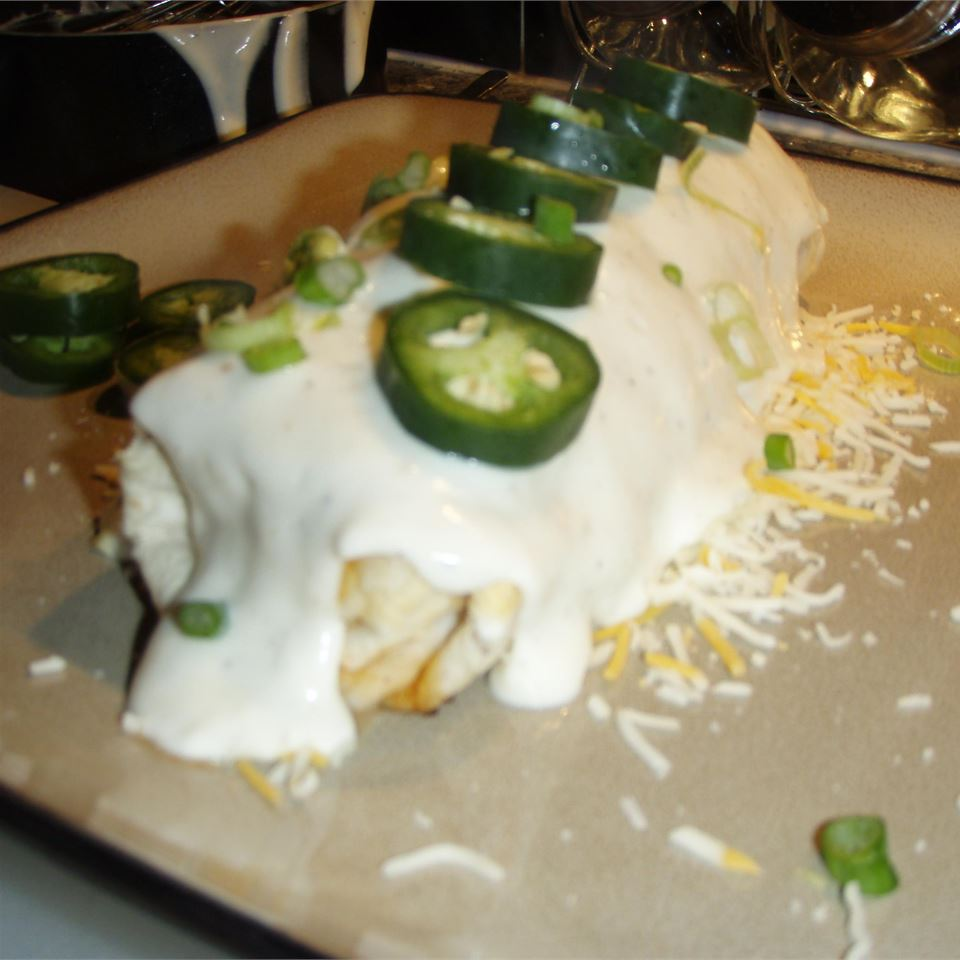 Chicken Chimichangas with Sour Cream Sauce janasue1459