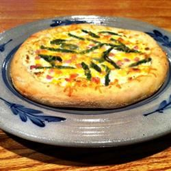 Pizza with Ham, Asparagus, and Ricotta lovestohost